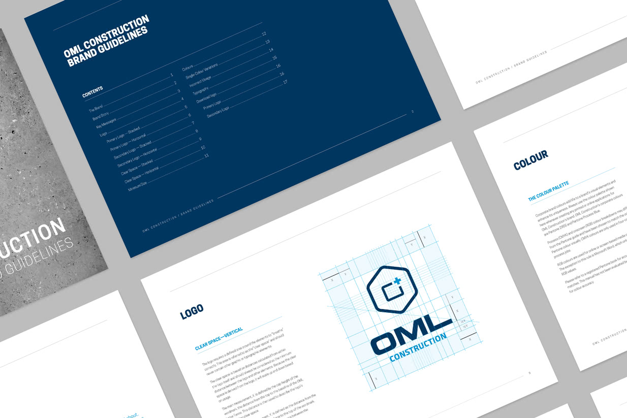 Showcase OML Construction Identity Vertical Grid