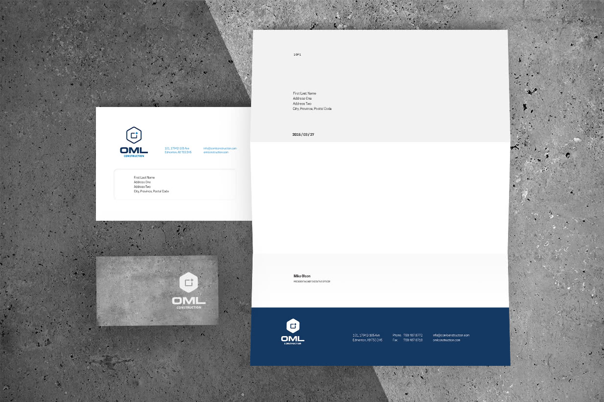 Showcase OML Construction Letterhead